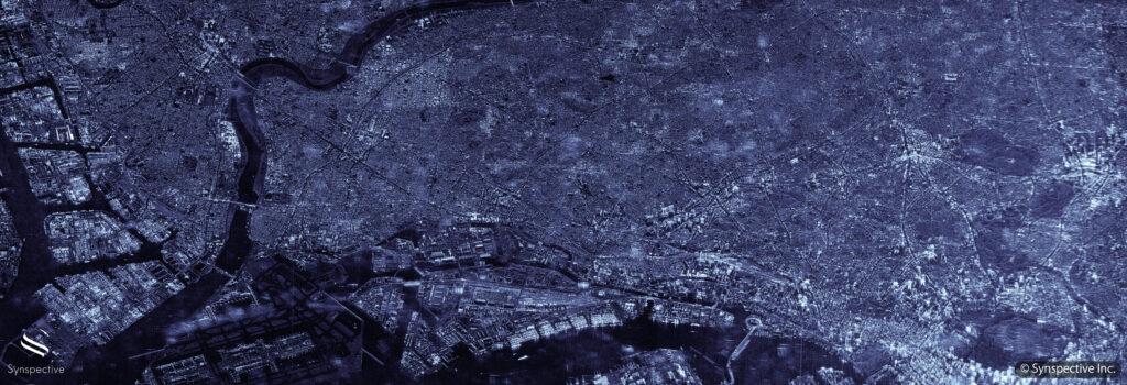 Synspective SAR Sliding Spotlightで撮像、東京(2021年4月)